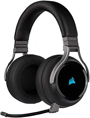 Corsair Virtuoso RGB Wireless SE High Fidelity Gaming Headset, (7.1 Surround Sound, Broadcast Qualität Omnidirektionalen Mikrofon mit PC, Xbox One, PS4, Switch und Mobilgeräte Kompatibilität) Gunmetal
