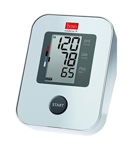 boso medicus X / Oberarm-Blutdruckmessgerät mit Einknopfbedienung, großem Display und Arrhythmie-Erkennung / Inkl. Standard-Manschette (22-32cm)