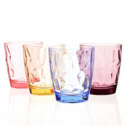Kunststoff-Trinkgläser, Acryl-Gläserset, unzerbrechlich, für Kinder, Wasser, Saft, Glaswaren, niedlich, für Picknick, Camping, Strandparty Assorted Color