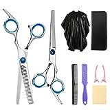 Yorgewd 8-teiliges Friseurscheren-Set, professionelles Haarschneide-Set für Friseursalon/Zuhause, für Männer und Frauen