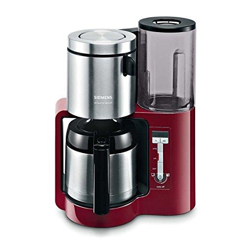 Siemens TC86504 Kaffeemaschine (1100 Watt, 8-12 Tassen, Edelstahl Thermokane) cranberry red