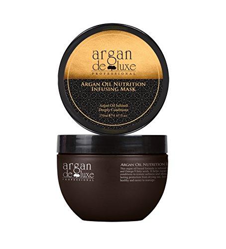 Arganöl Haarmaske in Friseur-Qualität  intensive Pflegekur  Geschmeidigkeit, Glanz, toller Duft  Argan DeLuxe, 250ml
