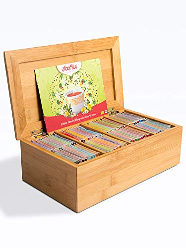 YOGI Tee Probierbox aus Holz (48 Sorten je 2 Beutel) - Komplettset