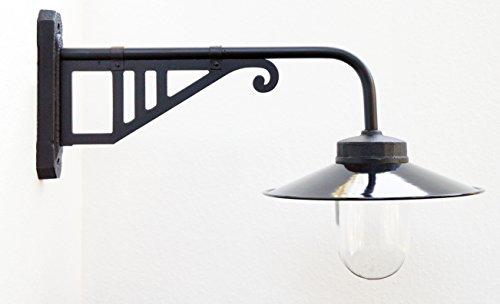 Außenleuchte nach historischem Modell, Gartenlampe, Hoflampe, Außenlampe, Landhausstil - Modell Salzberg (schwarz)