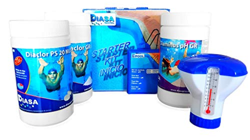 well2wellness Pool Starterset Wasserpfege - Schwimmbad Starter Kit 5in1