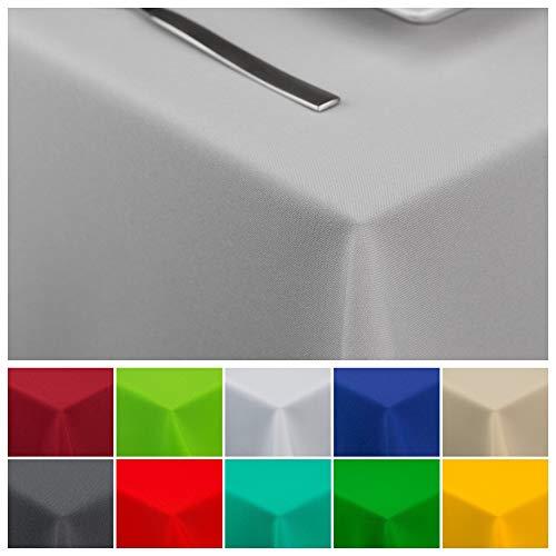 StoffTex Tischdecke Tischläufer Tischtuch Tischwäsche Tischdekoration Tafeltuch (Grau, 140 x 240 cm)