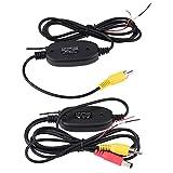 Suuonee RCA Video Sender & Empfänger Kit, RCA Video 2,4 GHz Wireless Sender & Empfänger Kit für Parkplatz Rückfahrkamera Monitor System