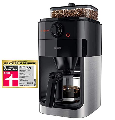 Philips Grind und Brew HD7767/00 Filterkaffeemaschine (mit Mahlwerk) edelstahl/schwarz