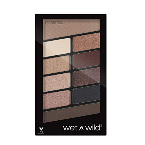 Wet n Wild – Lidschatten Palette Make-up, 10 hochpigmentierte Farben - Mix aus Schimmer + Matt in einer Lidschattenpalette, Nude Awakening, 1 Stk. 21,8g