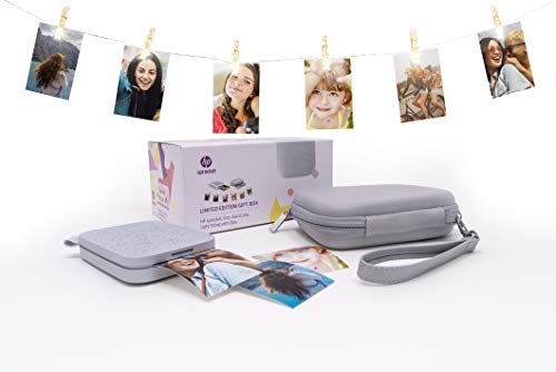 HP Sprocket Limited Edition Gift Box (HP Sprocket New Edition Fotodrucker + Etui + Lichterkette mit LED-Clips)
