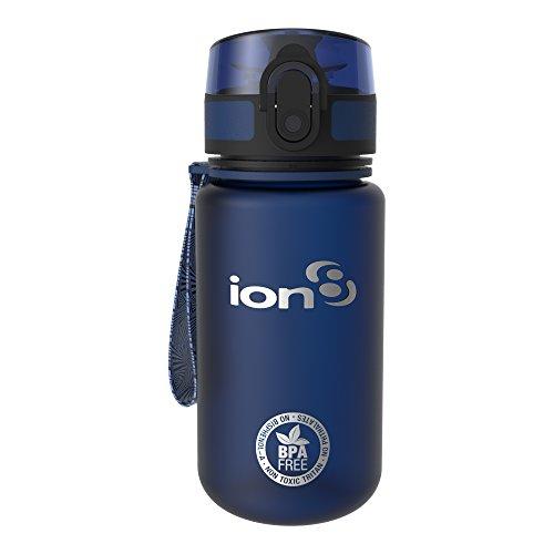 Ion8 auslaufsichere Kinder Wasserflasche / Trinkflasche, BPA-frei, 350ml / 12oz