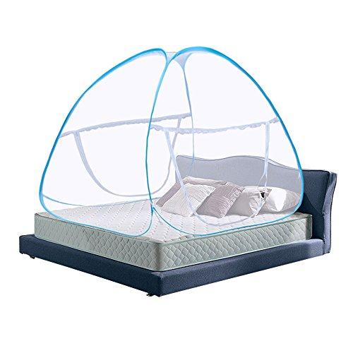 Moskitonetz Bett Baldachin Pop Up Faltbare doppelte Tür Anti Mosquito Bites(180 * 200 * 150 cm)