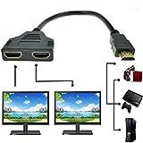 SYS HDMI-Kabel 1 Stecker auf 2 Buchsen, Y-Splitter-Kabel-Adapter, HD, TV,LCD, LED