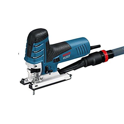 Bosch Professional Stichsäge GST 150 CE (Sägeblatt, Abdeckhaube, Absaug-Set, Spanreißschutz, L-BOXX, Schnitttiefe in Holz: 150 mm, 780 Watt)