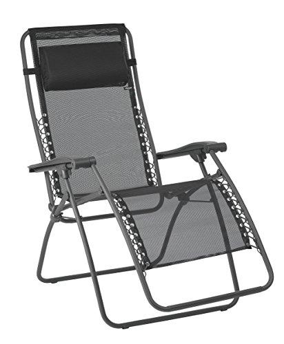 Lafuma Relax-Liegestuhl, Klappbar und verstellbar, Mit Schnürsystem, RSXA, Batyline, schwarz