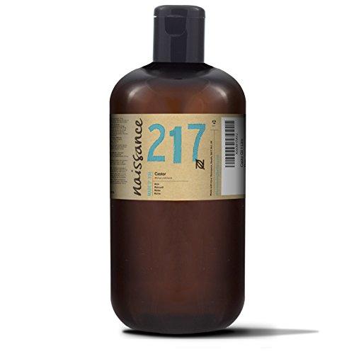 Naissance kaltgepresstes Rizinusöl 1 Liter (1000ml) - reines, natürliches, veganes, hexanfreies, gentechnikfreies Öl - pflegt und spendet Feuchtigkeit für Haare, Wimpern und Augenbrauen