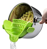 Sachsenmark Küchensieb - praktisches Sieb passend für alle Töpfe und Pfannen - einfach aufsteckbares Nudelsieb zum Einsatz mit der ganzen Familie - aus BPA freiem Silikon