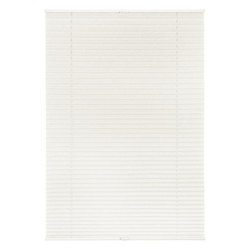 Lichtblick Plissee Klemmfix, 45 cm x 130 cm (B x L) in Weiß, ohne Bohren, Sicht- und Sonnenschutz, lichtdurchlässig & blickdicht