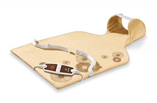 Beurer HK 58 Cosy Rücken-/Nacken-Heizkissen aus Flauschfaser, 6 Temperaturstufen, Schnellheizung