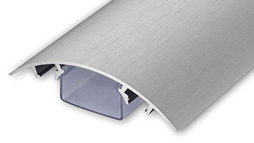TV Design Aluminium Kabelkanal Edelstahl gebürstet Look in verschiedenen Längen von ALUNOVO (Länge: 50cm)