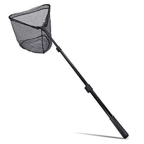Zite Fishing Unterfang-Kescher Gummiertes Netz - Angelkescher Easy Teleskop-Technik 2,10m - 60x60cm Angelnetz