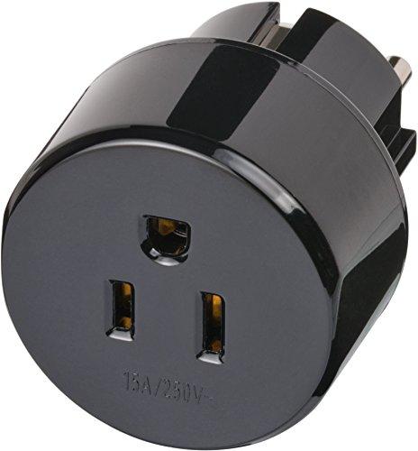 Brennenstuhl Reisestecker Adapter, Steckdosenadapter Reise (Für: USA & Japan Stecker) Farbe: schwarz