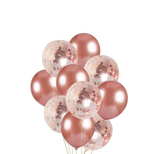 Tumao 30 Stück 12 Zoll Rose Gold Konfetti Ballon Premium Latex Glitter Ballons für Hochzeit und Geburtstag Party Dekorationen,Graduierung,Vorschlag, Hochzeiten, Geburtstage, Brautgeschenke, Baby-Duschen, Valentinstag.