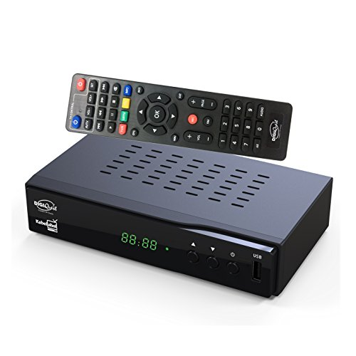 Kabelabel Full-HD Kabelreceiver Digital DVB-C (HDMI,Scart,LAN,USB,Display,Tasten,2in1 Fernbedienung)