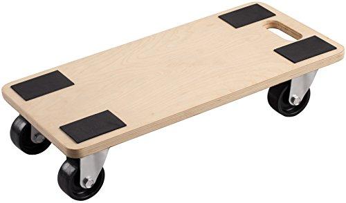 Meister Transportroller 590 x 290 mm  500 kg Tragkraft  Sperrholz  PP-Räder | Möbelroller | Transporthilfe für Umzug | Rollwagen für Möbel-Transport | Kistenroller aus Holz | 822120