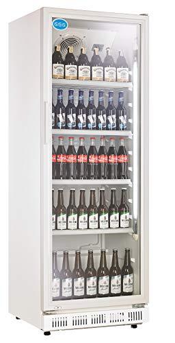 Flaschenkühlschrank mit Glastür 360 Liter Getränkekühlschrank Gewerbe Gastro