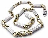 Herren 's Chunky Silber Gold Königskette Edelstahl Halskette Armband Set