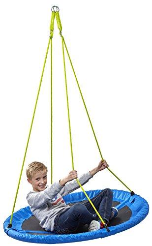 Nestschaukel Ø 110 cm, Tragkraft 150 kg, verstellbar von 105-180 cm, TÜV/GS, RCEE, Izzy Sport (blau)