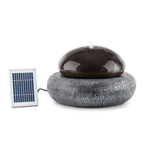 blumfeldt Ocean Planet Gartenbrunnen • Wasserspiel • Solarbrunnen • Pumpe: 200 l/h / IPX8 • Solarpanel: 2 W / 300 cm² • Akku: bis 8 h Betriebszeit / 3,7 V / 2 Ah • LED-Licht • Polyresin