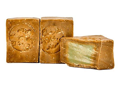 Carenesse Original'Aleppo' Seife 2 x 200 g, 55% Lorbeeröl und 45% Olivenöl, Naturseife in Handarbeit nach altem Traditionsrezept und langer Reifezeit