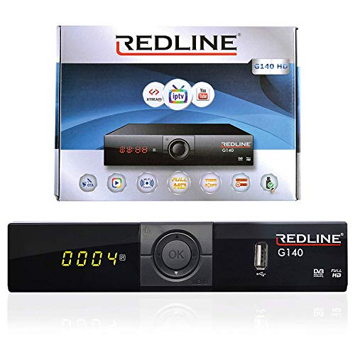 SATELLITEN SAT Receiver - RED LINE G140 - IPTV(Internet) - Xtream - WiFi - OTA - YouTube DVB-S / S2 HDMI (Full HD Ready HDMI HDTV HDMI SCART USB 2.0)