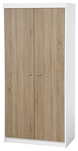 roba breite Wickelkommode 'Gabriella' inkl. Wickelansatz, Kinderzimmer Kommode mit einer Tür, einem offenen Fach und zwei Schubladen, Wickelhöhe 90 cm, bicolor