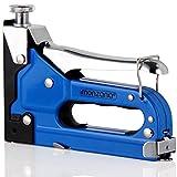 Monzana 3in1 Handtacker Set | Inkl. 500 x 8mm Rundrückenklammer | 500x 12mm Heftklammern | 500x 10mm Nägel | Heftgerät Nagler Klammergerät