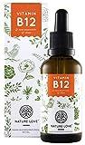 Vitamin B12 flüssig in 50ml (1700 Tropfen). Hochdosiert: 1000µg je Tagesdosis. Beide aktive B12 Formen: Methyl- & Adenosylcobalamin. Hoch bioverfügbar, laborgeprüft, vegan, hergestellt in Deutschland