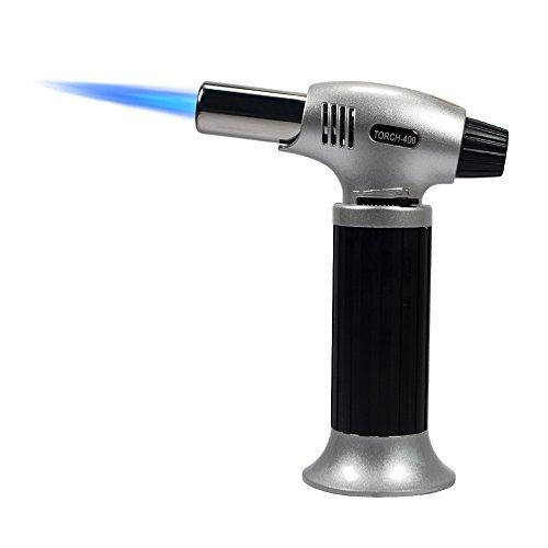 Flambierbrenner für Creme Brulee Kühenbrenner Butangasbrenner für Küche Flammentemperatur 1300° 12x6x15,5cm 210g, Butan inbegriffen Nicht