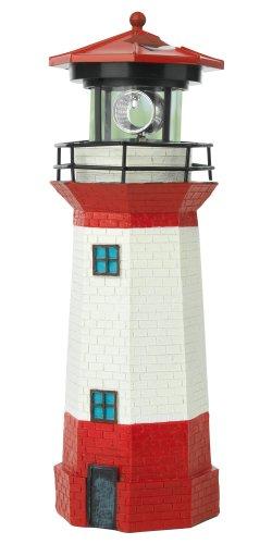 EASYmaxx 08617 Solar-Leuchtturm | 360 Grad, bis zu 8 Stunden Leuchtfeuer