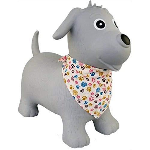 Brink Holzspielzeug Hopser Grauer Hund Gummi-Hüpftier