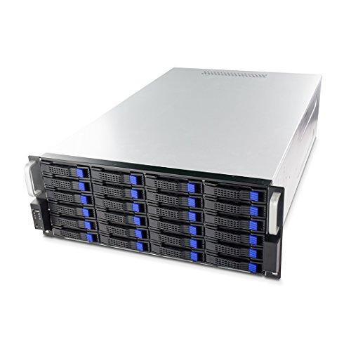 FANTEC SRC-4240X07 19' 4HE 680mm Storage Gehäuse (24x SAS/SATA Einschübe mit je 2 Status LEDs, Einschübe für 3,5' und 2,5' Datenträger, USB 2.0 Anschluss, 2X 80mm Lüfter)