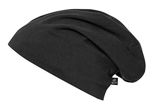 Brandit Unisex Beanie Strickmütze, Jersey Uni Schwarz, Medium (Herstellergröße: M/L)