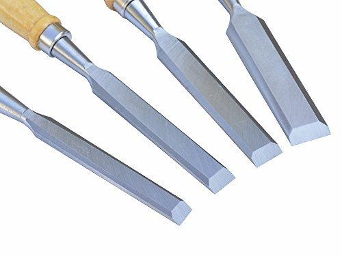 ACCOCO Stechbeitelsatz Holzmeißel-Set mit Holzgriffen 4-teilig