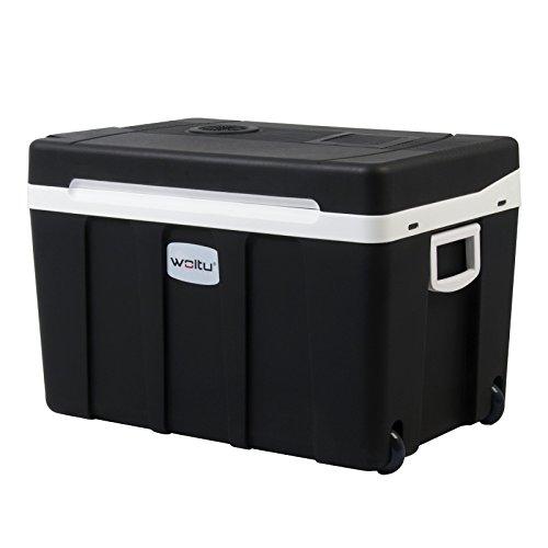 WOLTU Kühlbox, Thermo-Elektrische Mini-Kühlschrank, 50L Isolierbox warmhalten oder kühlen, 12V&220V, für Auto und Camping