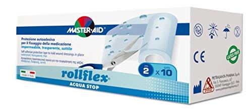 Wasserdichter und transparenter, hypoallergener Folienverband, rollflex ACQUA STOP (10cm x 2m) MASTER AID - 1 Stück