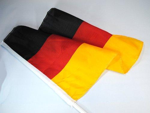 10er Set Autofahnen Deutschland *EM 2012*