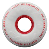 Ricta Clouds Skateboard-Rollen, 4 Stück, rot 55 mm Clouds Red