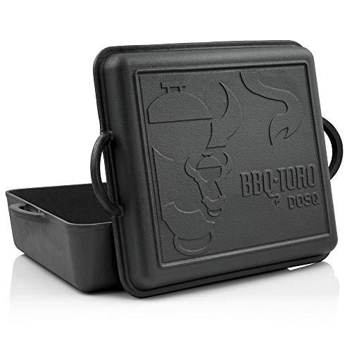BBQ-Toro Dutch Oven Pan I Gusseisen Kochtopf Gusstopf I 10,8 Liter I preseasoned - bereits eingebrannt I Bräter mit Deckel