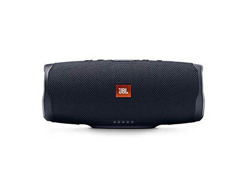 JBL Charge 4 Bluetooth-Lautsprecher (Wasserfeste, portable Boombox mit integrierter Powerbank, Mit nur einer Akku-Ladung bis zu 20 Stunden kabellos Musik streamen) schwarz